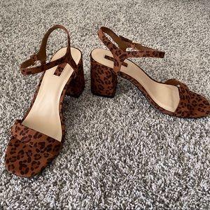NWOT F21 Cheetah Print Heels - 8